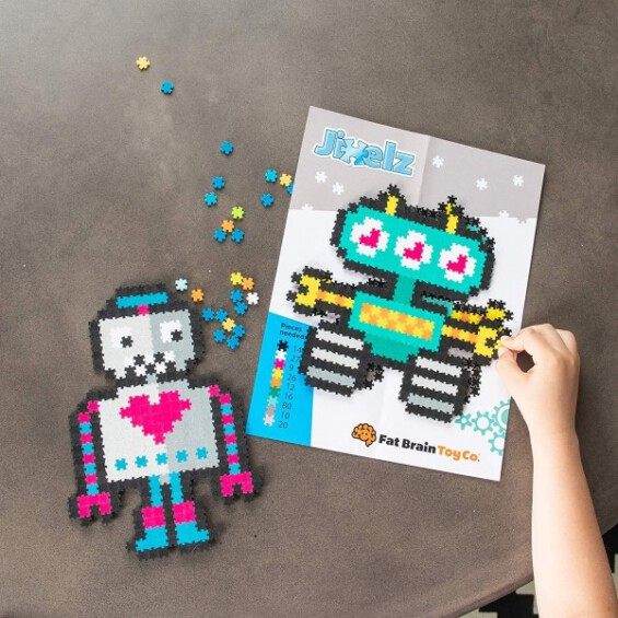 """Jixelz 700 detalių dėlionė – """"Besisukantys robotai"""" -20%  - 3"""