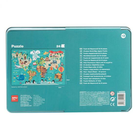 World map puzzle ŽAISLAI  - 4