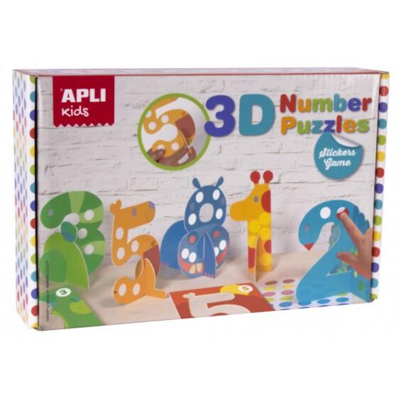 Apli 3D Number Puzzle ŽAISLAI  - 1