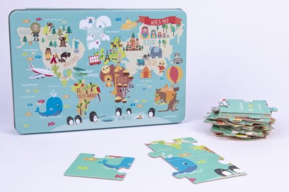 World map puzzle ŽAISLAI  - 2