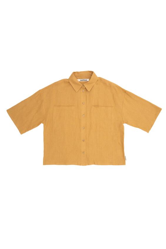 Moteriški lininiai marškiniai Marškinėliai  - 1